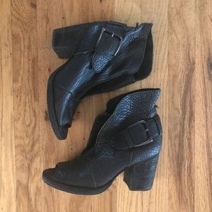 Unique black leather booties - Joes